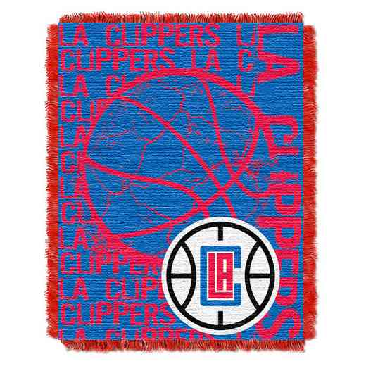 1NBA019040012RET: NBA  JACQUARD THROW, Clippers